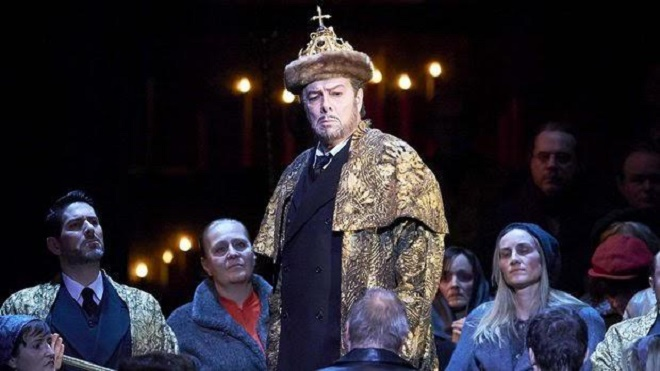M. Musorgskij: Boris Godunov - Ferruccio Furlaneto (Boris Godunov), Slovenský filharmonický zbor - Vienna Staatsoper (foto Michael Pöhn)