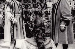 Richard Wagner: Mistři pěvci norimberští - Jan Hladík (Vít Pogner), Natalie Romanová (Eva), Jan Kyzlink (Hans Sachs) - ND Brno 1980 (foto Rafael Sedláček)
