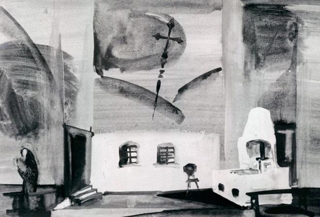 Leoš janáček: Její pastorkyňa - DFXŠ Liberec 1967 - scénický návrh Jaroslava Maliny (foto archiv)