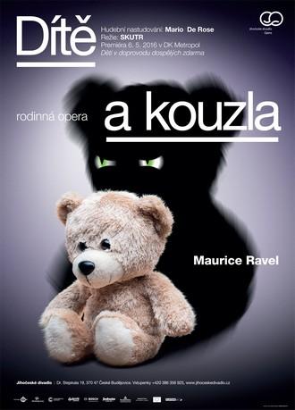 Maurice Ravel: Dítě a kouzla - plakát k představení - grafický design Marek Vácha (zdroj JD České Budějovice)