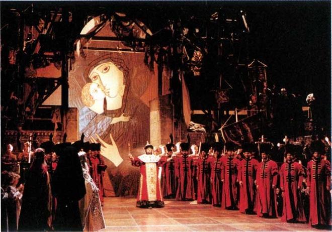 M. Musorgskij: Boris Godunov v réžii Andreja Tarkovského vo Vienna Staatsoper (zdroj archív Slovenského filharmonického zboru)