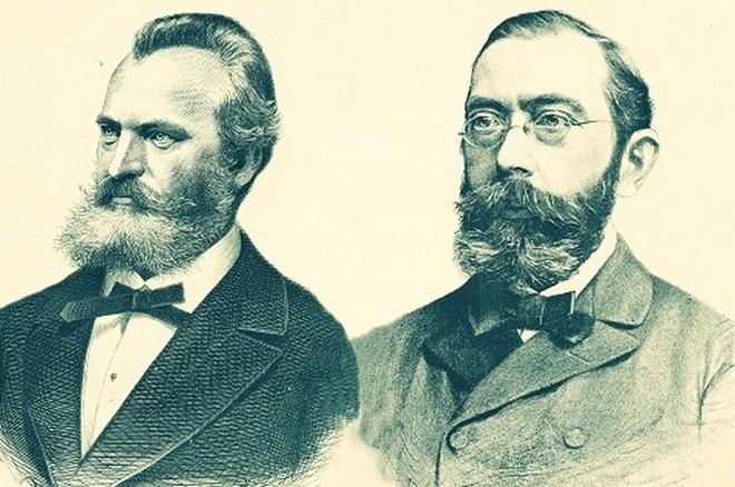 Architekti Rudolfina Josef Zítek a Josef Schulz (zdroj rudolfinum.cz)