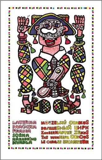 Kouzelný cirkus - plakát Zdenka Seydla (foto archiv ND Praha)