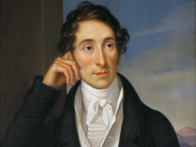 Carl Maria von Weber - portrét zhotovila Caroline Bardua v roce 1821 (zdroj commons.wikimedia.org)