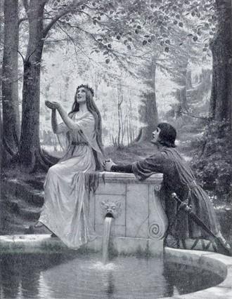 Claude Debussy: Pelléas et Mélisande - malba (Edmund Blair Leighton) (zdroj en.wikipedia.org)