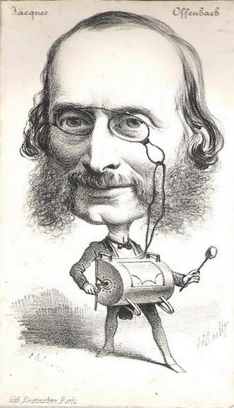 Jacques Offenbach - karikatura (foto archiv)