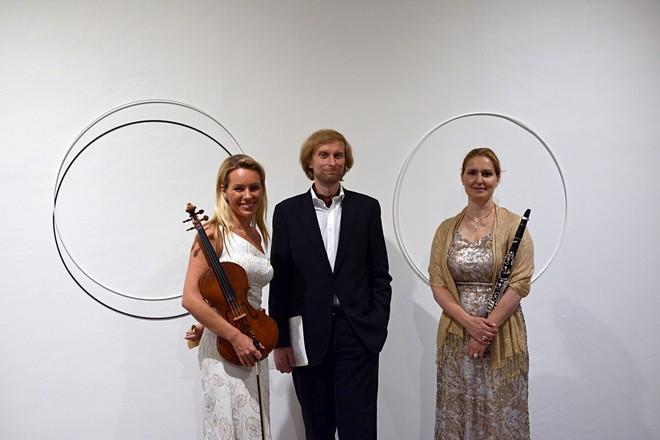 Jitka Hosprová, Ivo Kahánek a Ludmila Peterková - Procházky Uměním - Museum Kampa 2016 (foto Vojtěch Žák)