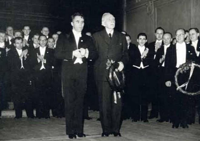 Josef Veselka a Josef Bohuslav Foerster (zdroj PFS)