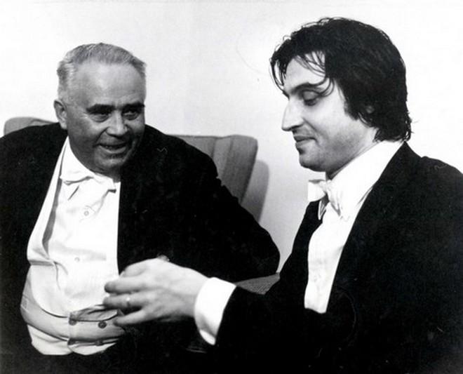 Josef Veselka a Riccardo Muti (foto archiv)