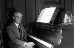 Michelangeliho Ravel. Obraz namalovaný na skle