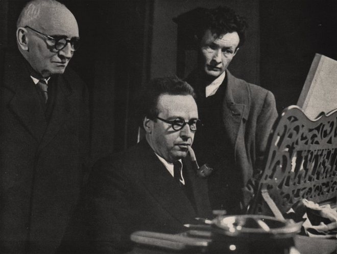 Paul Claudel. Arthur Honegger a herec Jean-Louis Barrault (foto archiv)