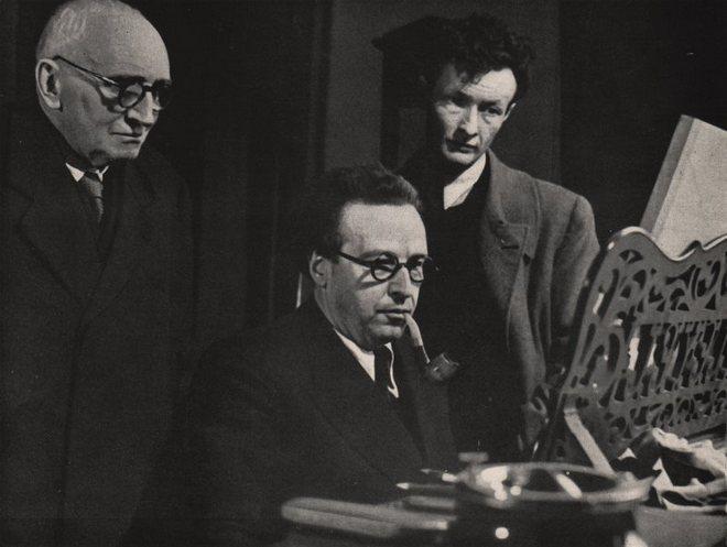 Paul Claudel. Arthur Honegger a herec Jean-Louis Barrault (foto archiv)