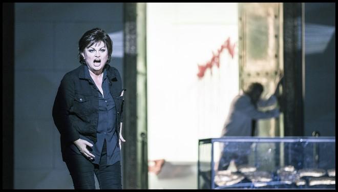 Richard Strauss: Elektra - Susan Bullock (Elektra) - Státní opera Praha 2016 (foto Patrik Borecký)