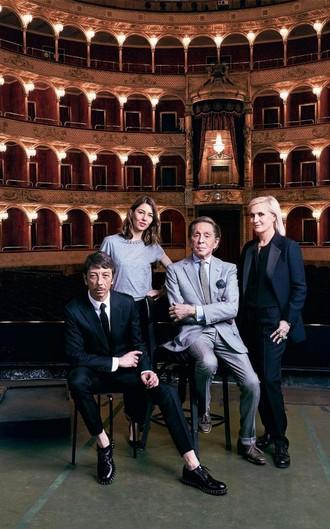Valentino Garavani, Sofia Coppola, Grazia Chiuri a Pierpaolo (foto Danilo Scarpati)