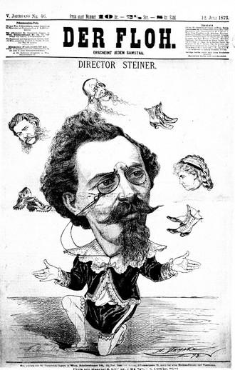Ředitel Maximilian Steiner - list Der Floh 12.7.1873 (foto archiv autorky)
