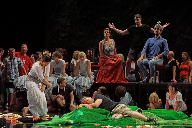 Franco Faccio: Hamlet - foto ze zkoušky - Bregenzer Festspiele 2016 (foto Karl Forster/FB Pražského filharmonického sboru)