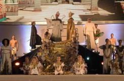 G.Verdi: Aida - Ivana Veberová (Aida), Paolo Lardizzone (Radames), František Zahradníček (Egyptský král), Eva Urbanová (Amneris), Jevhen Šokalo (Ramfis) - DJKT 2016 (foto Pavel Křivánek)