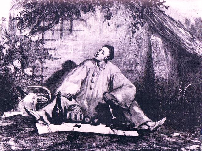 Auguste Bouquet: Jean-Gaspard Deburau jako Pierrot Gormand (cca 1830) (foto archiv)
