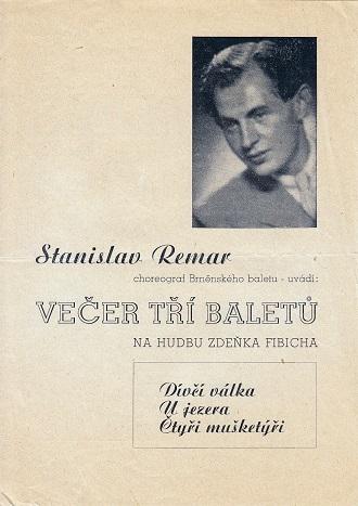 Titulní strana programu - Večer tří baletů - ND Brno 1946 (foto archiv ND Brno)