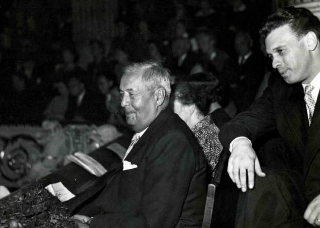 Václav Talich a Ivan Medek - komorní koncert na počest Václava Talicha - Dům umělců 28. září 1957 (zdroj nm.cz)