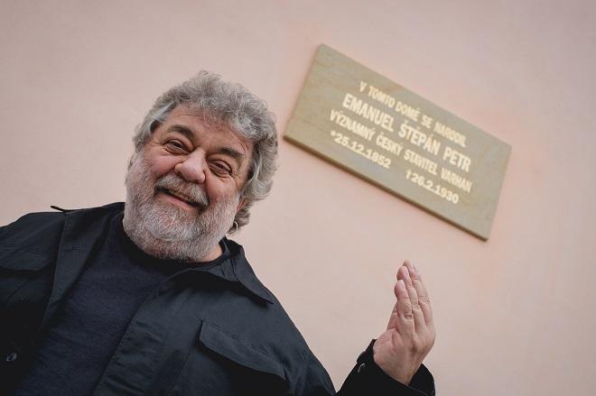 Odhalení pamětní desky Emanuela Štěpána Petra - Oskar Petr - 24.7.2016 Opočno (foto Honza Ježdík)