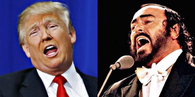 Donald Trump - Luciano Pavarotti (foto archiv)