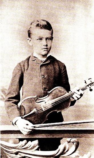 Franz Lehár jako student Pražské konzervatoře (foto archiv autorky)