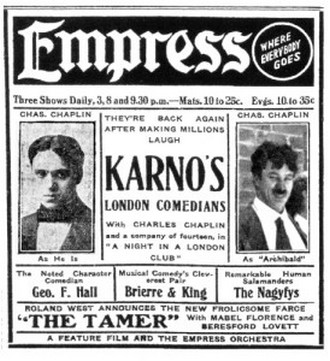 Zpráva v tisku o turné společnosti Freda Karnoa po Spojených státech v roce 1910 (foto archiv)