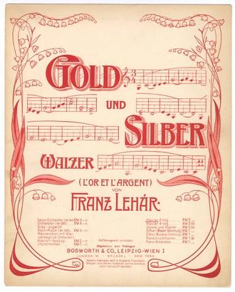 Franz Lehár: Zlato a stříbro (valčík) - úprava pro klavír (foto archiv autorky)