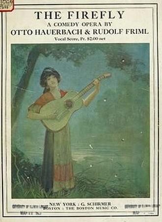 Klavírní výtah operety Rudolfa Frimla Firefly (foto archiv autorky)