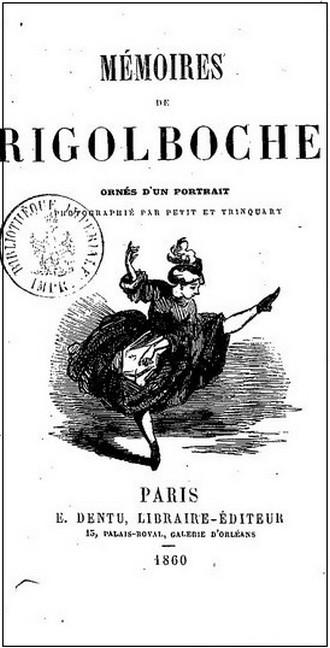 Mémoires de Rigolboche - titulní strana (foto archiv autorky)