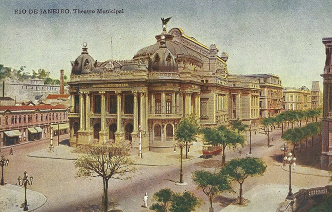 Theatro Municipal do Rio de Janeiro v roce 1930 (foto archiv autora)