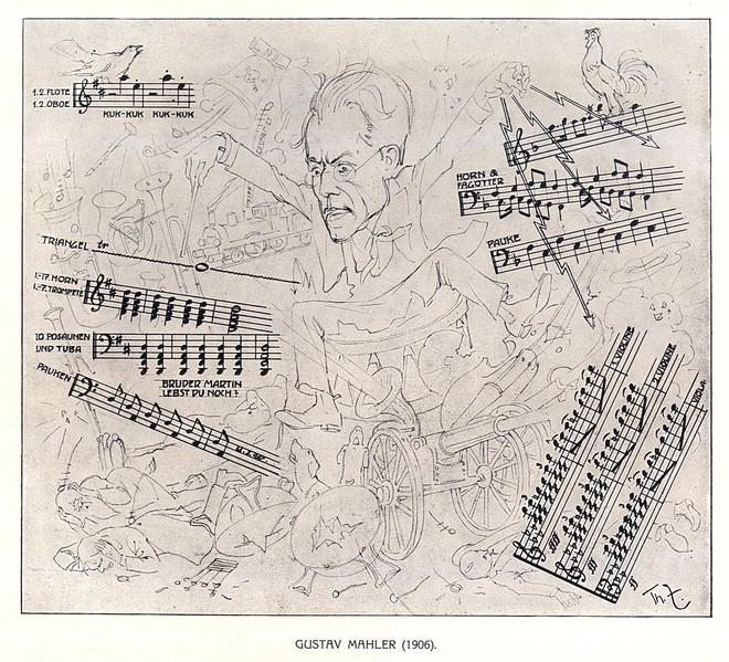 Gustav Mahler diriguje Symfonii č. 1 D dur - autor Theo Zasche (zdroj commons.wikimedia.org)