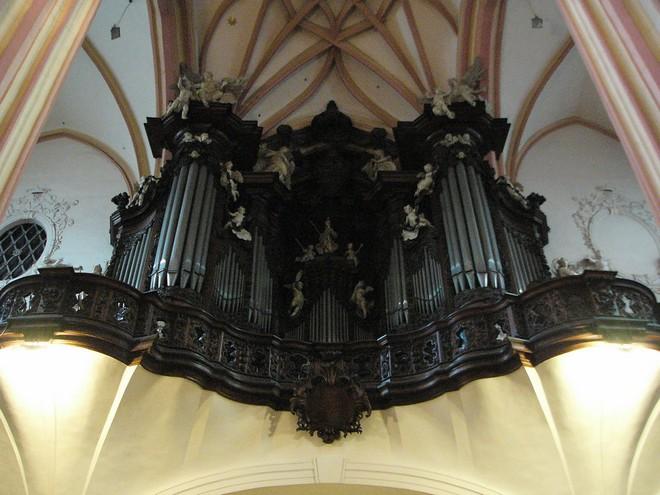Chrám sv. Mořice Olomouc - varhany (zdroj commons.wikimedia.org/Michal Maňas)