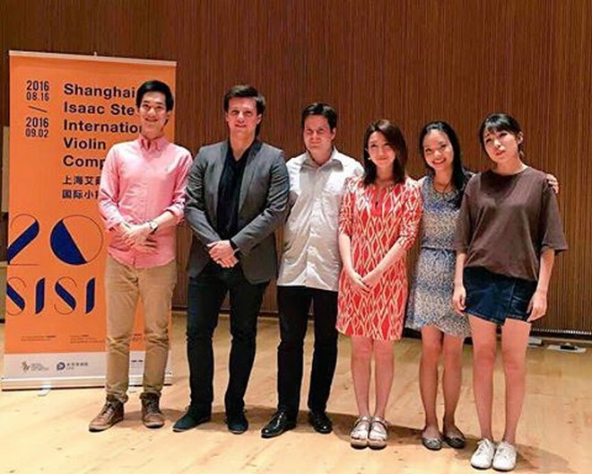 Shanghai Isaac Stern International Violin Competition 2016 - finalisté (foto FB Shanghai Isaac Stern International Violin Competition)