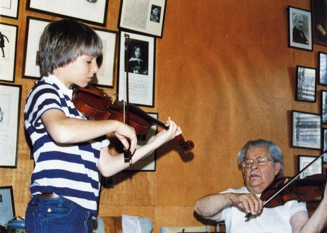 Joshua Bell a Josef Gingold (zdroj elbowmusic.org)