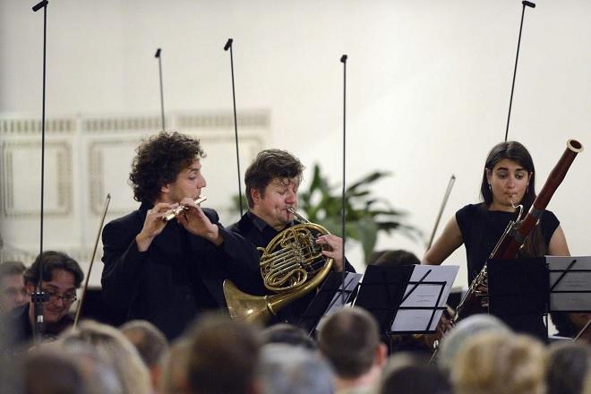 Radek Baborák a jeho přátelé - Pirmin Grehl, Radek Baborák, Viola Wilmsen - Svatováclavský hudební festival 2016 (foto Ivan Korč)