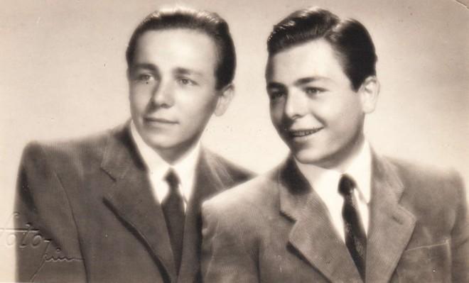 Miroslav Košler s bratrem Zdeňkem (foto archiv M. Košlera)