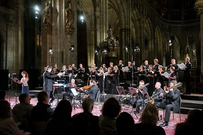 Tallis Scholars, Martinů Voices, Kvarteto Martinů, Marie Fajtová, Peter Phillips - Dvořákova Praha 2016 (foto © Petra Hajská)