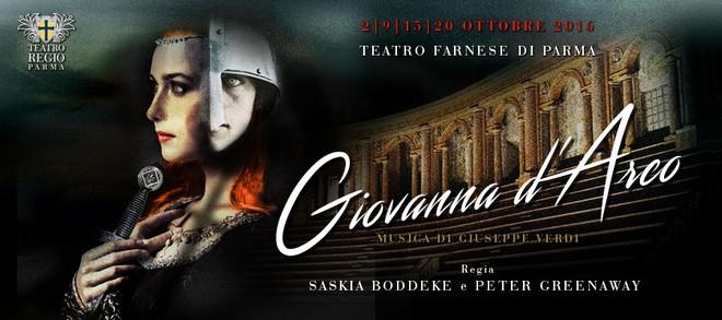 Giuseppe Verdi: Giovanna d'Arco - vizuál - Teatro Farnese di Parma 2016 (zdroj teatridiparma.it)