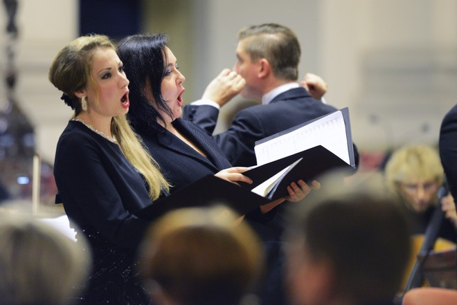 Svatováclavský hudební festival 2016 - Barbora Řeřichová Perná, Lucie Hilscherová - kostel Panny Marie Královny Ostrava 2016 (foto Ivan Korč/SHF)