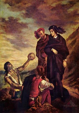 Eugene Ferdinand Victor Delacroix - Hamlet a Horatio na hřbitově (foto archiv)