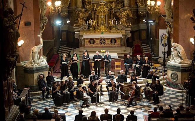 Musica Florea, Marek Štryncl a sólisté - Podzimní festival duchovní hudby Olomouc 2016 (foto archiv Musica Viva)