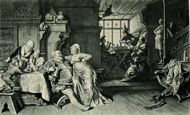 W. Shakespeare: Henry IV. - část 2, Falstaff v hostinci Boar's Head (foto wikipedia.org)
