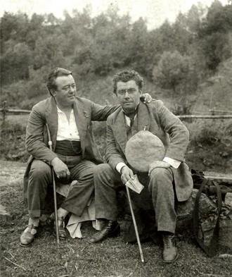 Karel Burian, Emil Burian - Šumava, 1912 (foto archiv ND Praha)
