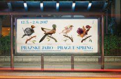 Fantaskní ptactvo s hudebními nástroji. Podívejte se na nový design Pražského jara