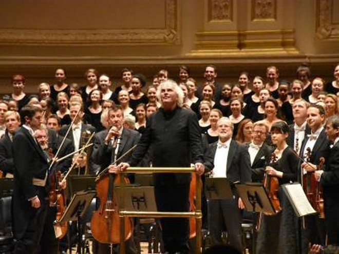 Berliner Philharmoniker a Simon Rattle v Carnegie Hall (foto Chris Melzer)
