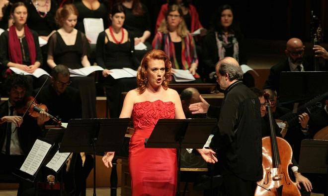 Antonio Vivaldi: Juditha triumphans - Magdalena Kožená, Antonio Marcon - Barbican Hall Londýn 2016 (foto Martin Godwin/Guardian)