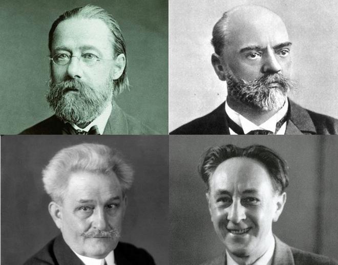 Bedřich Smetana, Antonín Dvořák, Leoš Janáček, Bohuslav Martinů (foto archiv)