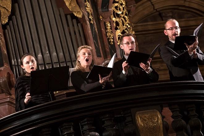 Německá moteta - Kristen Witmer, Kamila Mazalová, Tomáš Lajtkep, Jaromír Nosek - Barokní podvečery 1.12.2016 (foto © Petra Hajská)